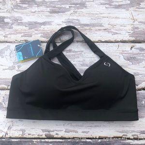 Brooks sports bra black moving comfort collection
